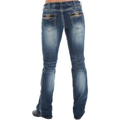 Cowgirl Tuff Aztec Rocker Jean - West 20 Saddle Co.