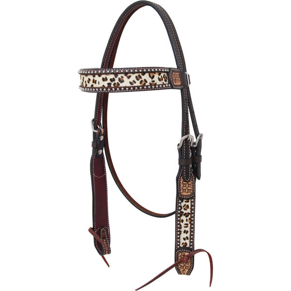 Rafter T Ranch Leopard Collection Browband Headstall