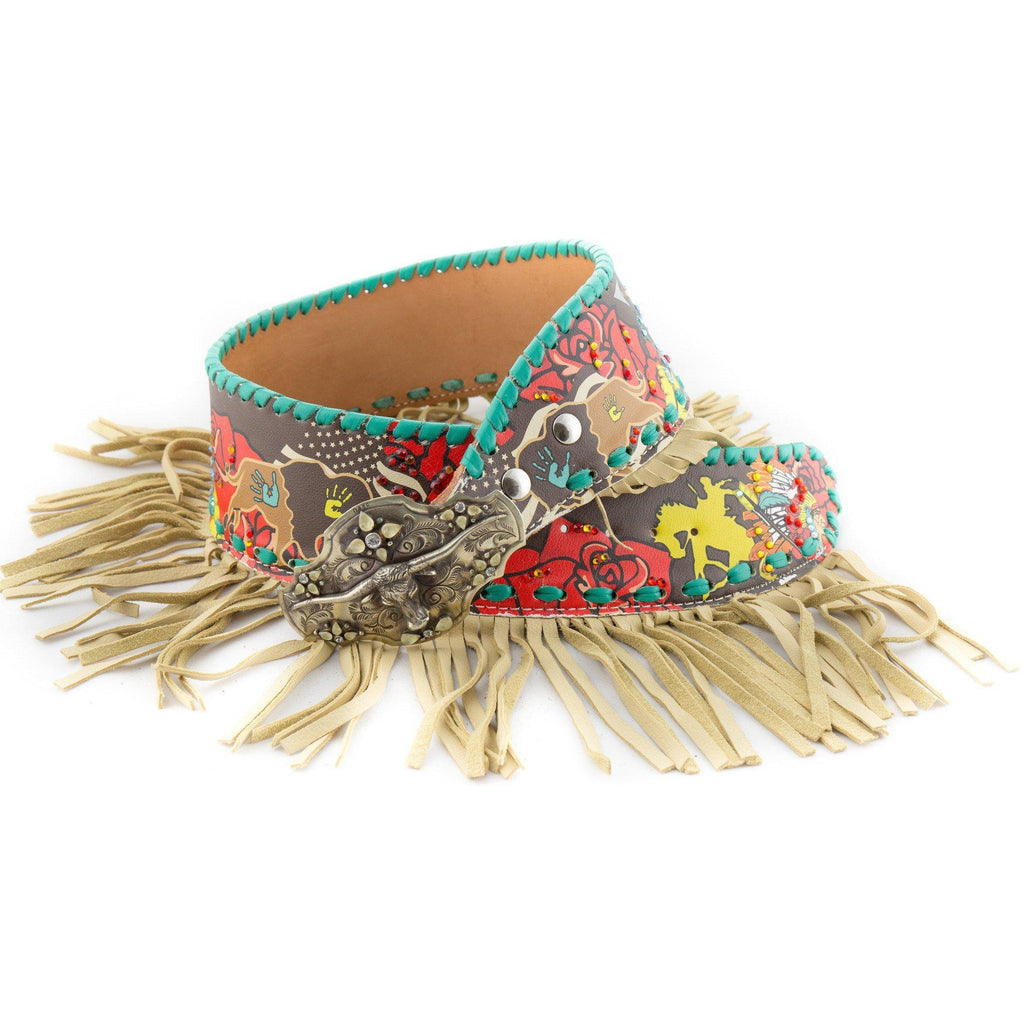 Buffalo Billie with Fringe Fashion Belt - West 20 Saddle Co.
