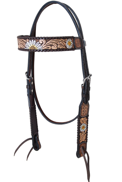 Rafter T Daisy Collection Browband Headstall