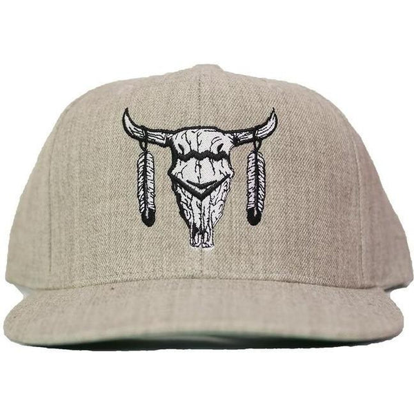 Dale Brisby Big Skull Heather Grey Snapback - West 20 Saddle Co.
