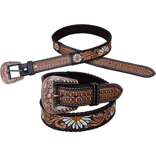 Rafter T Ranch Daisy Leather Belt