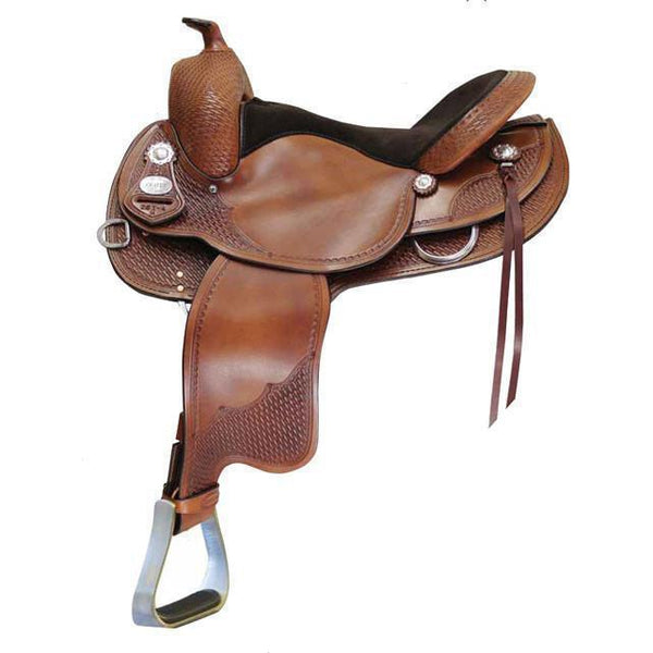 Crates 261 Basic Reining Saddle Round Skirt - West 20 Saddle Co.