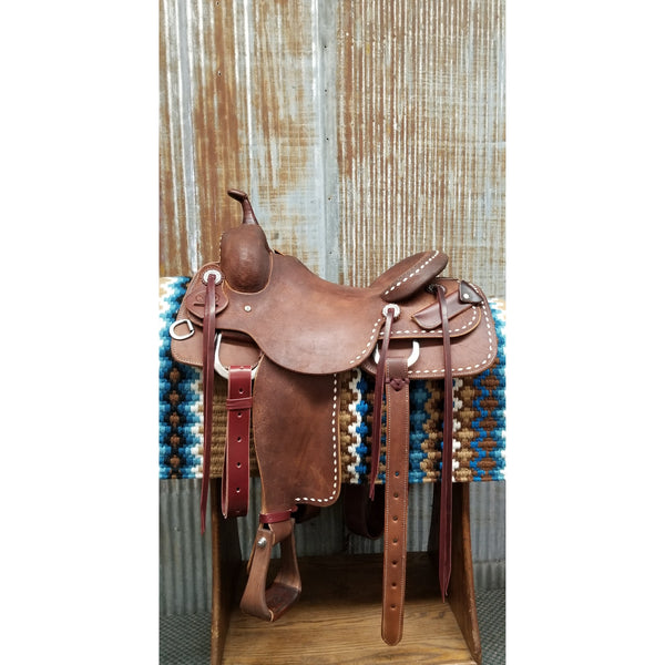 "16"" RW Bowman Custom West 20 Cowhorse Saddle"