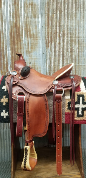 RW Bowman Mike Branch Natural Ride Saddle