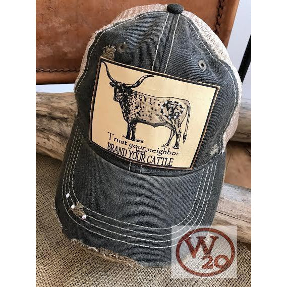 Brand Your Cattle Ball Cap - West 20 Saddle Co.