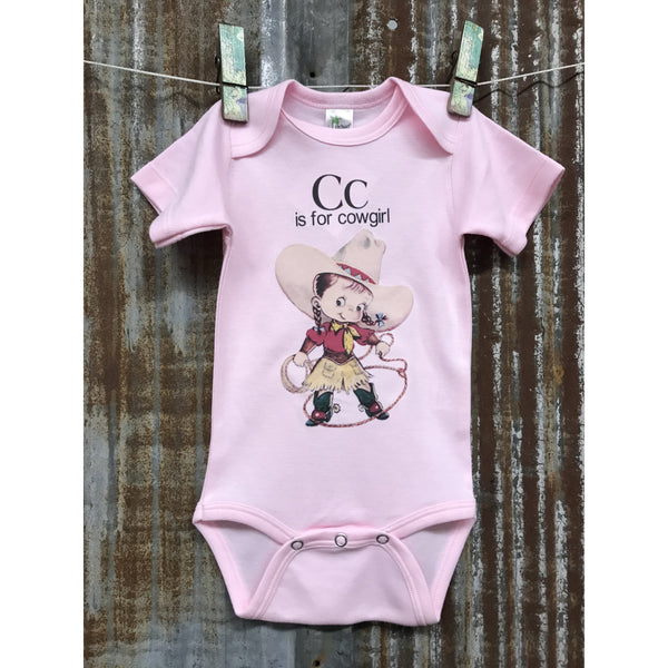 Cc is for Cowgirl Onesie