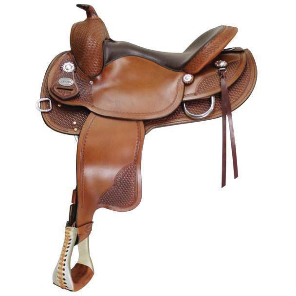 Crates 2222 Classic Reining Saddle Round Skirt - West 20 Saddle Co.