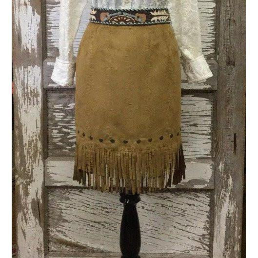 Cowgirl Justice Belle Faux Suede Fringe Skirt - West 20 Saddle Co.