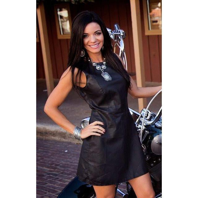 Cowgirl Justice Madison Faux Leather Scuba Dress - West 20 Saddle Co.