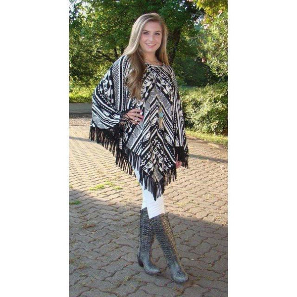 Cowgirl Justice Sonora Fringe Poncho - West 20 Saddle Co.