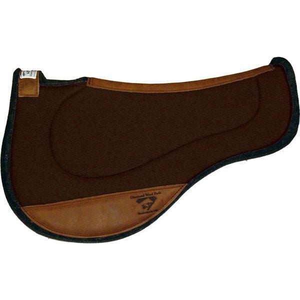 Diamond Wool Endurance Contoured Ranch Pad – Round - West 20 Saddle Co.