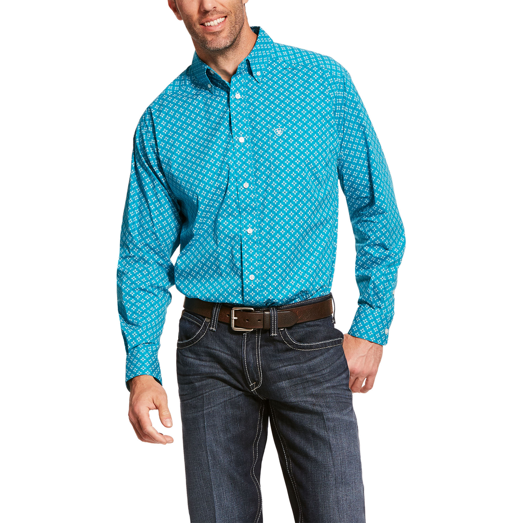 Ariat Mens Backern Stretch Classic Fit Shirt