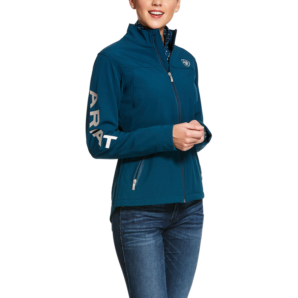 Ariat Womens Dream Teal New Team Softshell Jacket