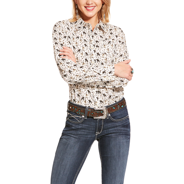 Ariat Womens Pasture Print Kirby Shirt