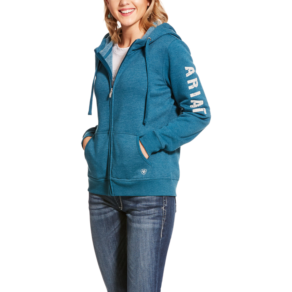 Ariat Womens REAL Full Zip Hoodie