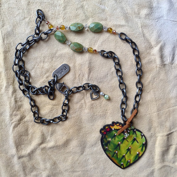 Cactus Heart Necklace