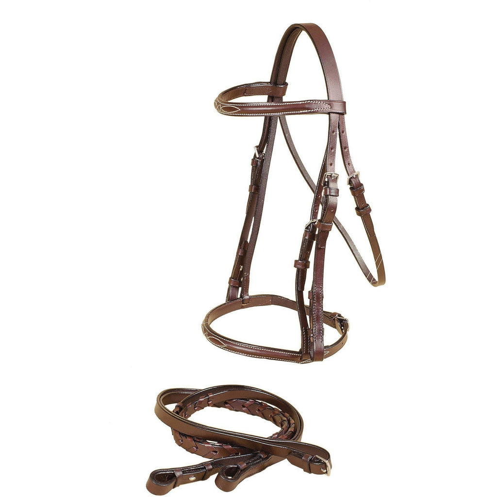 Tory Leather Gatsby Fancy Raised Snaffle Bridle - West 20 Saddle Co.