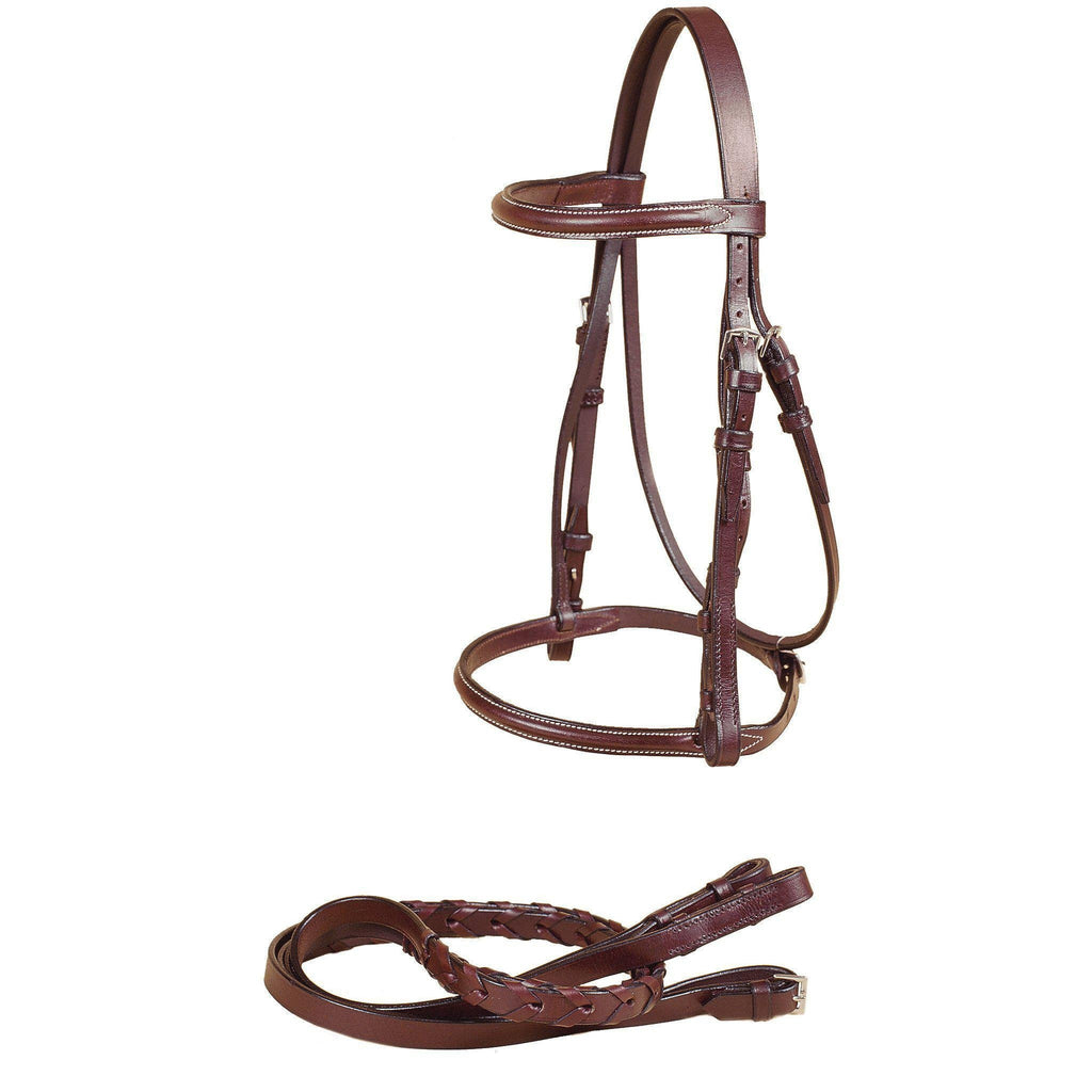 Tory Leather Gatsby Plain Raised Snaffle Bridle