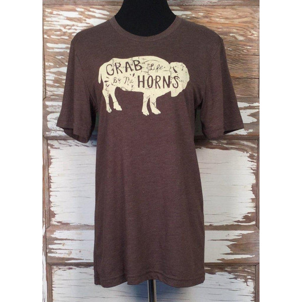 Cowgirl Justice Grab Life by the Horns Tee - West 20 Saddle Co.