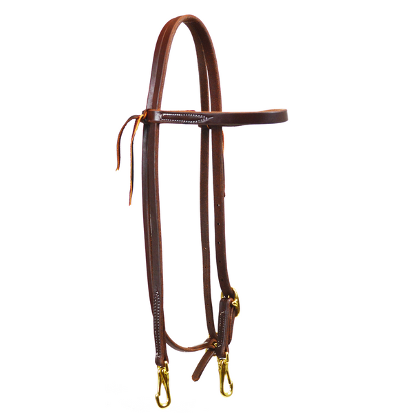 Single Buckle Browband Headstall with Snaps