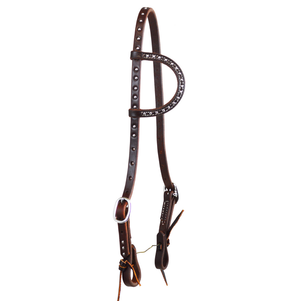 Oiled Dotted Double Buckle Slip Ear Headstall