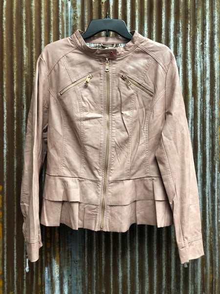 Montana Co Womans Leather Racer Jacket
