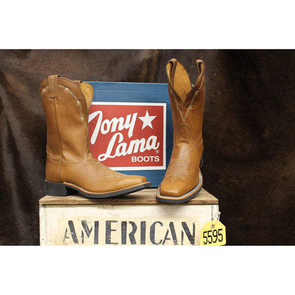 Tony Lama Men's Tan Cheyenne Americana Square Toe Boot - West 20 Saddle Co.