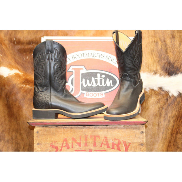 Justin Boots Women's Black Westerner Tekno Crepe Boots - West 20 Saddle Co.