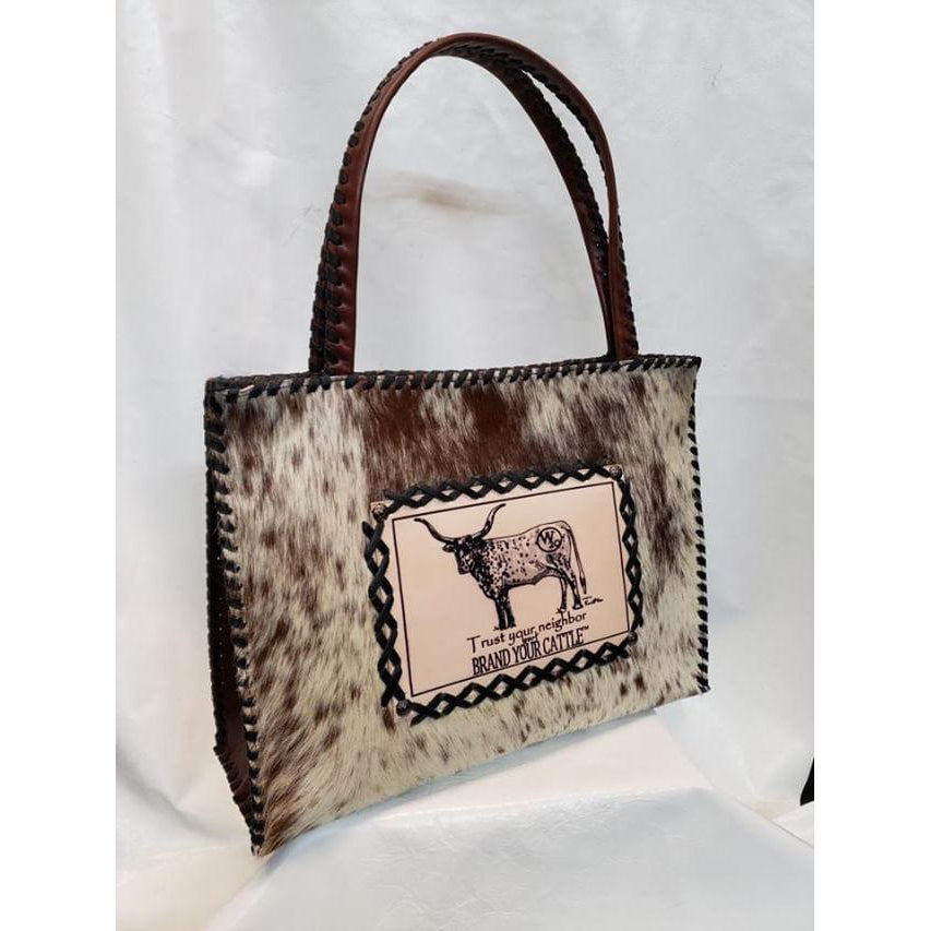 KurtMen Ladies Cowhide Box Tote Fashion Bag