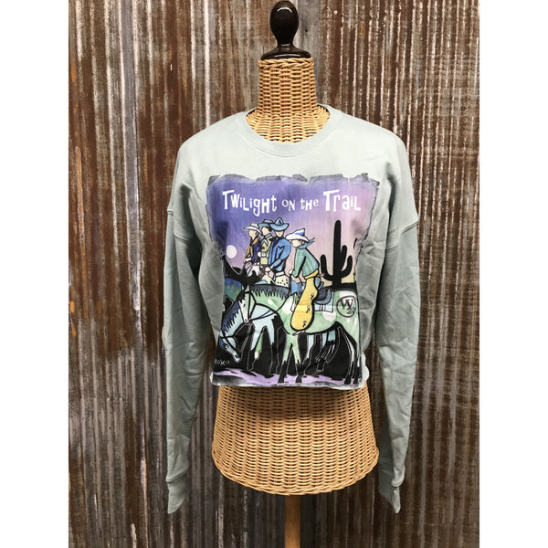Twilight on the Trail Cropped Sweatshirt