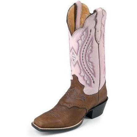 Justin Women's Coffee Westerner With Saddle Vamp - West 20 Saddle Co.