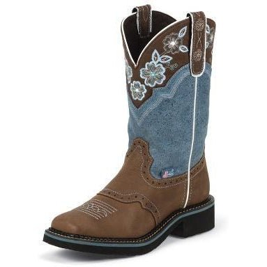 Justin Women's Starlina Blue Boot - West 20 Saddle Co.