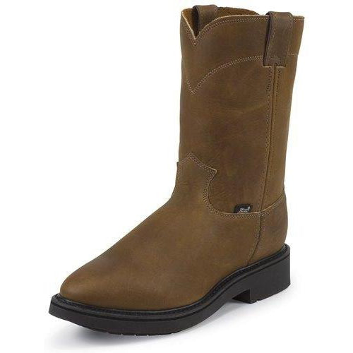 Justin Men's Conductor Pull-on Brown Work Boot