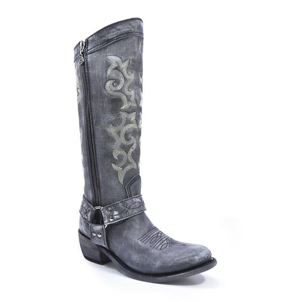 Liberty Black Boots Vintage Grafito Tall Women's Boots - West 20 Saddle Co.