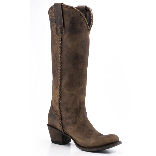 Lane Boots Brown Plain Jane Boots
