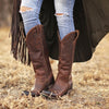 Lane Boots Brown Plain Jane Boots - West 20 Saddle Co.
