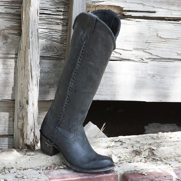 Lane Boots Black Plain Jane Boots - West 20 Saddle Co.