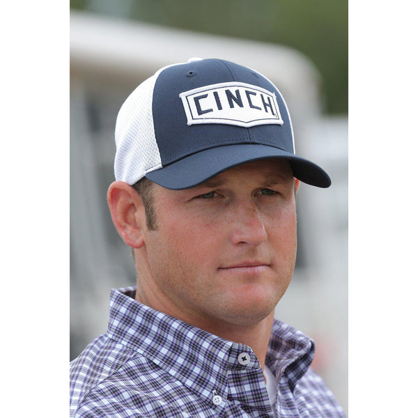 Cinch Men's Navy Mesh Back Trucker Cap with Front Patch - West 20 Saddle Co.