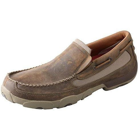 Twisted X Mens Original Slip-On Driving Moccasins-Bomber