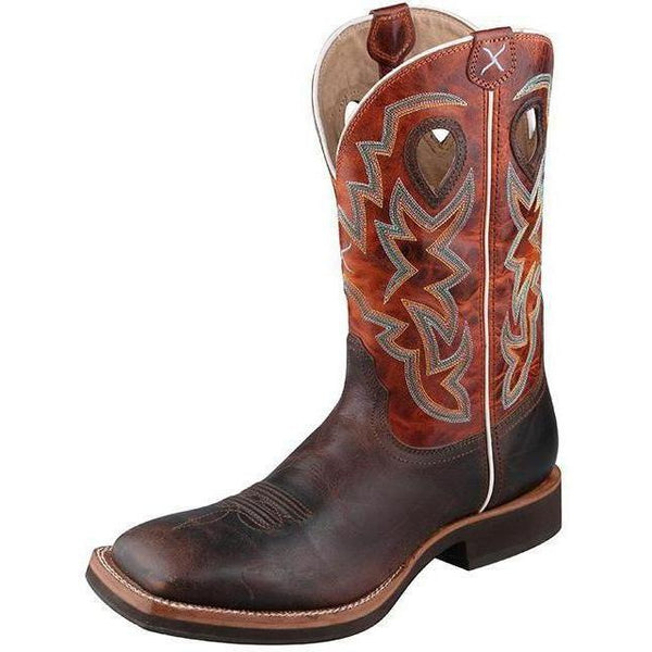 Twisted X Men's Horseman Boot – Chocolate/Orange - West 20 Saddle Co.