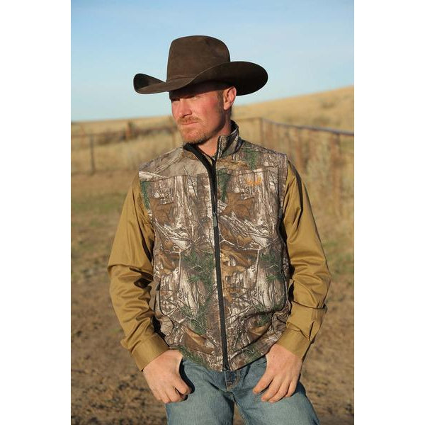 Cinch Mens Outdoors Realtree Camo Vest