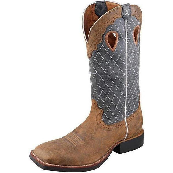 Twisted X Men's Ruff Stock Boot – Bomber/Blue - West 20 Saddle Co.