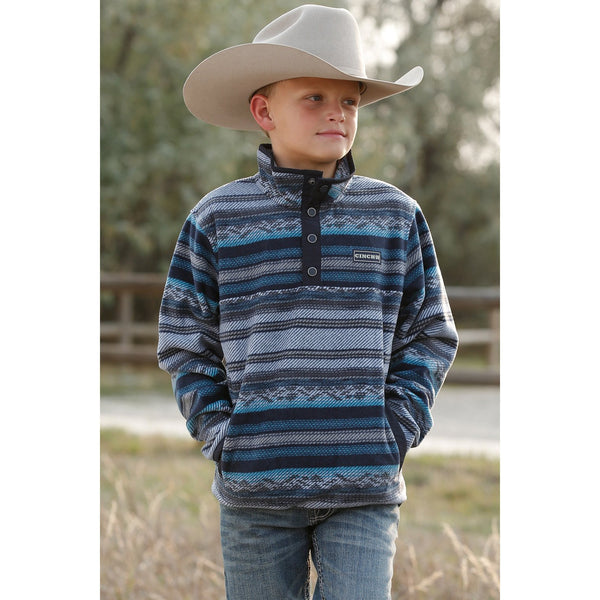 Cinch Boy's Aztec Fleece Pullover