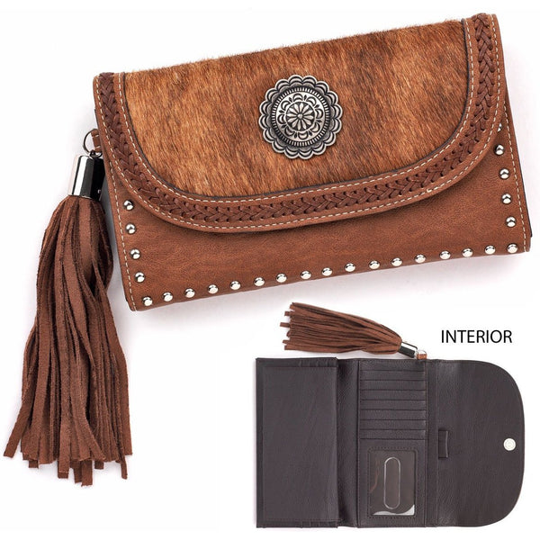 Blazin' Roxx Brown Ella Flap Wallet