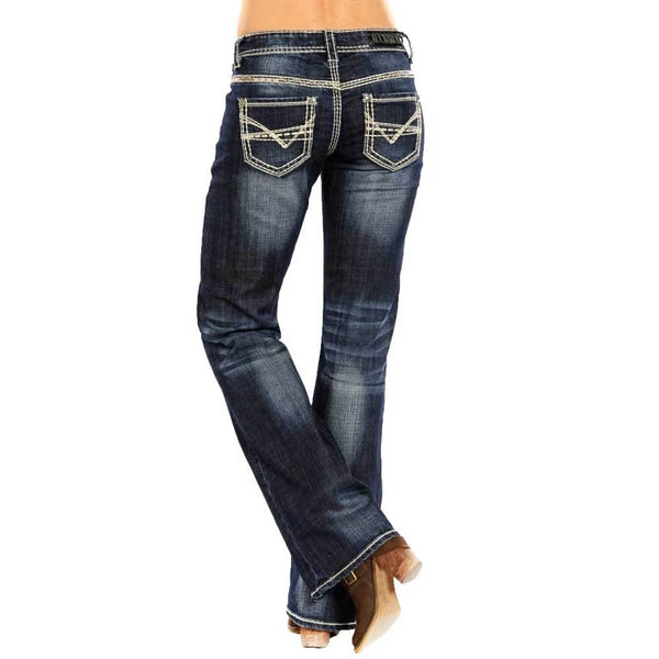 Panhandle Slim Mid Rise Rock&Roll Cowgirl - Riding X Stitch Jean