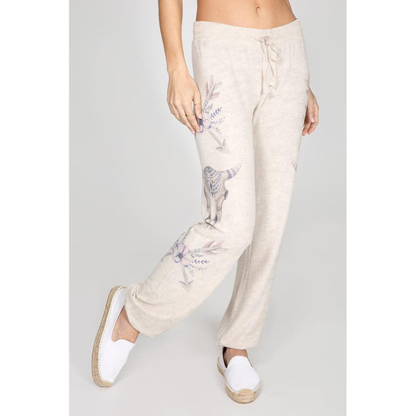PJ Salvage Lazy Days PJ Pants Oatmeal