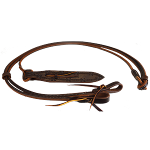 "54"" Rolled and Sewn Oiled Harness Leather Romel Reins"