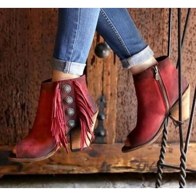 Liberty Black Res. Vegas Rojo Booties - West 20 Saddle Co.