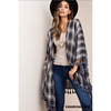 West 20 Saddle Co. Blue Plaid Kimono - West 20 Saddle Co.